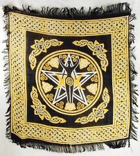 "Pentagram Goddess Altar/Tarot Cloth 18"" x 18"" Wicca Pagan"