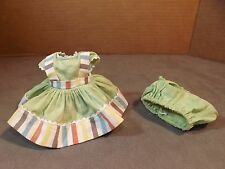 "VNTG 1952 Vogue Ginny doll Outfit ""Kindergarten School"" Green w/stripes,Tagged"