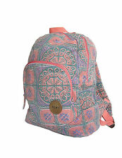 BRAND NEW ROXY WOMENS BACKPACK CANVAS COTTON SHOULDER TRAVEL BOOK BAG TOTE