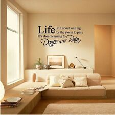 PVC Removable Room Vinyl Decal Art DIY Wall Sticker Home Decor LIFE Letter Words