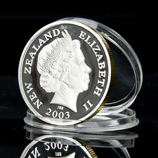 1PC Silver & Gold Lord of the Rings New Zealand Souvenir Commemorative Coin