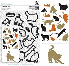 DOCRAFTS XCUT A5 DIE CUTTING SET MIXED CATS - NEW UNIVERSAL FIT