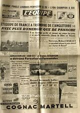 Journal l'Equipe n°2833 - 1955 -  Foot France Angleterre - R.Haillet - Iharos