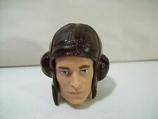 "NEW GI JOE BRITISH FLYING HELMET HAT FOR 12"" ACTION FIGURE, BROWN ACCESSORY"