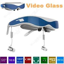 G100 VR Glasses Virtual Reality Headset 3D Video Glasses 1080P HDMI 98inch Blue