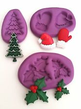 CHRISTMAS SET OF MOULDS Sugarcraft  Fondant Sugarpaste Icing Mold Cake