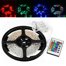 5M 500CM RGB 3528 300 Led SMD Flexible Light Strip Lamp + 24 key IR Controller
