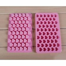 55 Mini Heart Shape Silicone Baking Mould Chocolate Decoration Mold