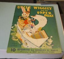 Uncle Wiggily and the Paper Boat 10 Stories by Howard Garis 1943 Color Pictures