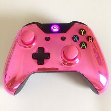 Xbox One 1 custom chrome manette sans fil (rose) en forme de dôme thumbsticks