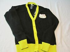 Womens Forever 21 Hello Kitty Sweater, sz S, Black w/Yellow