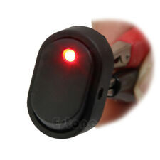 New Red LED Light 12V 30A 30Amp Car Boat Auto Rocker SPST Toggle Switch Sales
