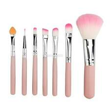 7pz Set Professionale Make up Pennelli Trucco Visage yeux Cosmetici Brush Rose
