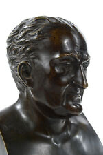 "Haller 19th century solid bronze 12"" bust sculpture w/Marble base"