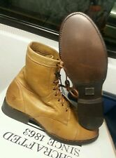 "FRYE WOMEN ""ERIN"" CAMEL LACE UP LEATHER  WORK BOOT 2  3474312 SIZE:8.5"