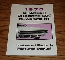 1970 Dodge Charger Illustrated Facts Features Manual Brochure 70