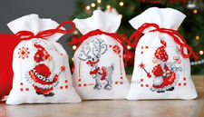 Vervaco Christmas Bags Cross Stitch Kit Christmas Elves