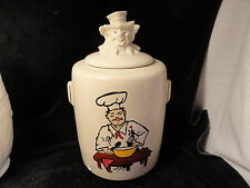 White McCoy Pottery Chef Cookie Jar Kitchen