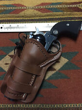 "LEFT Colt SAA 4.75 Ruger Blackhawk & Vaquero 4.62"" Western Cross Draw Holster"