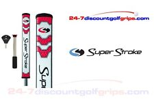 Superstroke Flatso 2.0 putter grip with counter core - Red