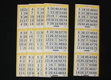 BINGO PAPER Cards , 3 on 1 Yellow Bdr Vertical,  125 sheets  FREE SHIPPING in US
