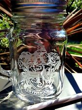 Engraved Harry Potter Gryffindor Mason Drinking Jar - New