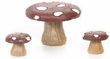 Mushroom Table and Stools  3 pcs  DA 3000764  Miniature Fairy Garden Dollhouse