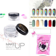 2g Magic Mirror Hologram Silver Laser Powder Nail Glitter Rainbow Chrome Pigment