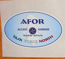 ADESIVO Operazione Allied Harbour task force north ALBANIAN FORCE 1999 AFOR