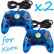 2 LOT NEW Blue Controller Control Pad for Original Microsoft XBOX X System
