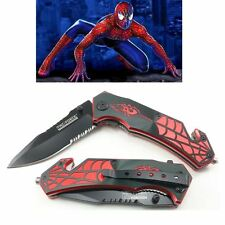 TAC-FORCE Spider man Spring Assisted Folding Pocket Knife W/ Glass Breaker