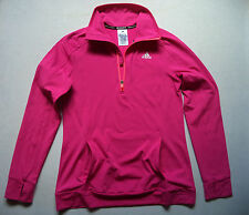 Womens ADIDAS fitness jersey sz M hiking running track sports gym ski shirt top