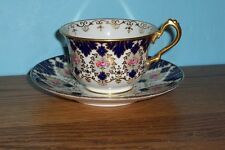 CAULDON ENGLAND COBALT BLUE CUP AND SAUCER