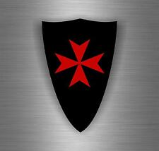 Sticker car biker maltese shield airsoft decal crusader cross templar knights P
