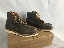 "NEW RED WING HERITAGE 6"" MOC 8883 BOOTS MENS 10.5 D CONCRETE LEATHER NO LACES"