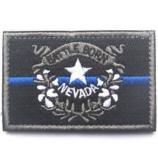 USA Nevada FLAG NV STATE FLAG U.S. ARMY 3D MORALE BADGE TACTICAL HOOK PATCH #3