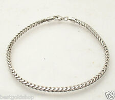 "8"" Mens Solid Italian Franco Chain Bracelet Anti-Tarnish 925 Sterling Silver"