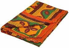 Wall Hanging Kantha Bedsheet Hippie Tapestry Table Cover Handmade Indian Throw