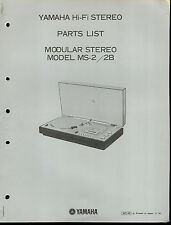 Orig Factory Yamaha MS-2/2B Modular Hi-Fi Stereo Receiver Turntable Parts List