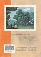 1950 DeBeers Jewlers  PRINT AD  Artwork by Jean Hugo