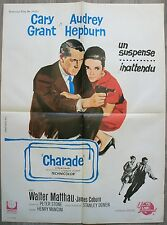 CHARADE Affiche Cinéma Movie Poster 80x60 Cary Grant Audrey Hepburn