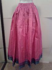 Vtg. Women's Oscar de la Renta Babydoll Skirt- Pink w/ Green Blue Purple trim
