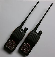 Lot of 2 Pofung GT-5 Two-Way Radio Dual Band VHF/UHF 136-174/400-520MHz