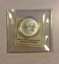 2011 Canada $10 .999 1/2 Oz Silver Coin - Maple Leaf Forever With RCM COA