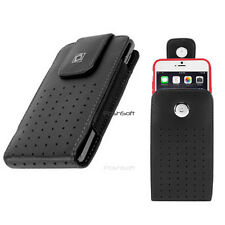 Leather VERTICAL Case Holster Belt Clip for Motorola Droid Turbo 2 +Moto X Force