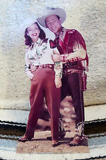 """Roy Rogers and Dale Evans Western Tabletop Display Standee 10"""" Tall"""