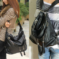 Hot Womens Chain Tassels Fringes Handbag Hobo Tote Backpack Shoulder Shopper Bag