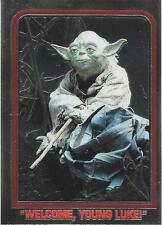 1999 Topps Star Wars Chrome Archives #41 Welcome Young Luke!   Yoda   Jedi