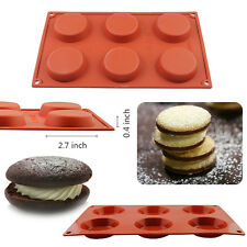 "[2.7x0.4""] DIY Chocolate Cake Cookie Muffin Baking Silicone Bakeware Mould Mold"