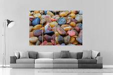 shiny Pebble Sassi Ciottoli Pietre Da parete Arte Poster A0 Larghezza stampa